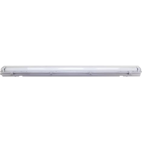 Réglette étanche avec tube fluo Dhome - 2 x 36 W - Blanc