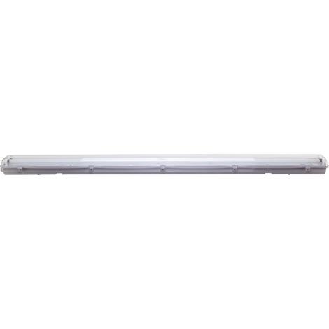 Réglette étanche avec tube fluo Dhome - 2 x 58 W - Blanc