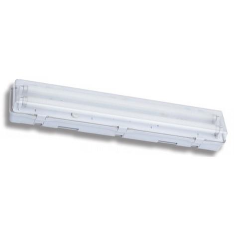 Réglette étanche fluo 2X18W avec tubes T8 3000K 660x118x88mm IP65 CALYPSO PROTEC CALYPSO218
