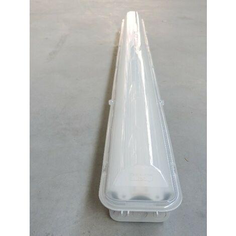 Réglette étanche LED 50W poly longueur 1200x120x102mm 4000K 7048lm 230V IK08 IP66 DISANO DIS16474-100
