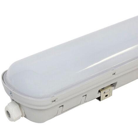 Réglette Étanche LED EcoLine 1500 mm 48W Dimmable IP65 4800LM (Connexion 2 Latérales) Blanc Froid 6000K   IluminaShop