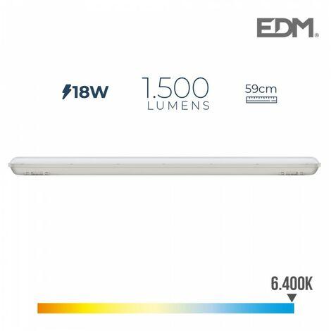 RÉGLETTE ÉTANCHE LED IP65 18W 1.500 LUMENS 6.500K L. FROID