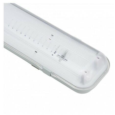 Réglette Étanche pour 2 Tubes LED 1200 mm (Connexion 1 Latérale)   IluminaShop