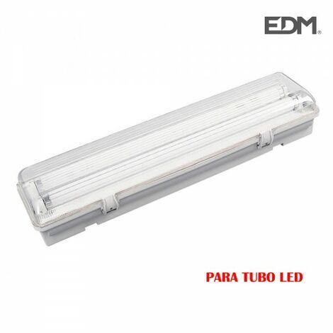 Réglette étanche pour 2 tubes led 18w (eq 2x36w) 125cm ip44 - edm