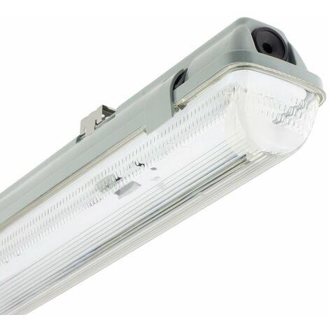 Réglette Étanche pour un tube LED 1200mm PC/PC Connexion Latérale