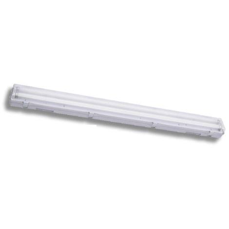 Réglette fluo étanche 1x36W avec tube 4000K précablée 1260x88x66mm ballast 230V A2 IP65 CALYPSO SOBEM SCAME 22224