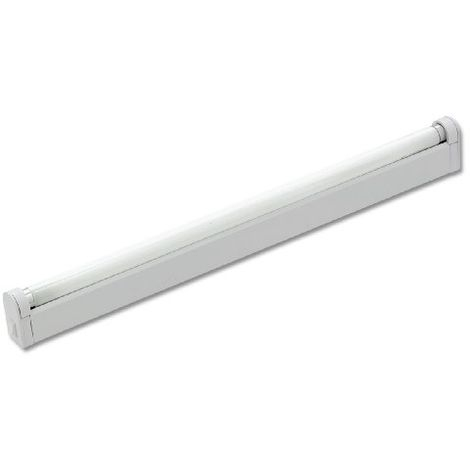 Règlette fluo MAXI 18W métal blanc avec inter Starlicht Essential