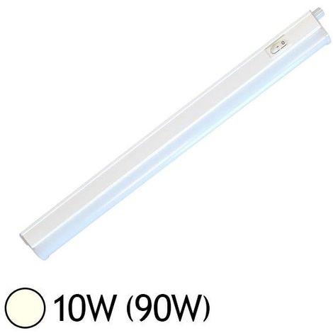 Réglette LED 10W (90W) T5 Blanc jour 4000°K L870mm chaînable