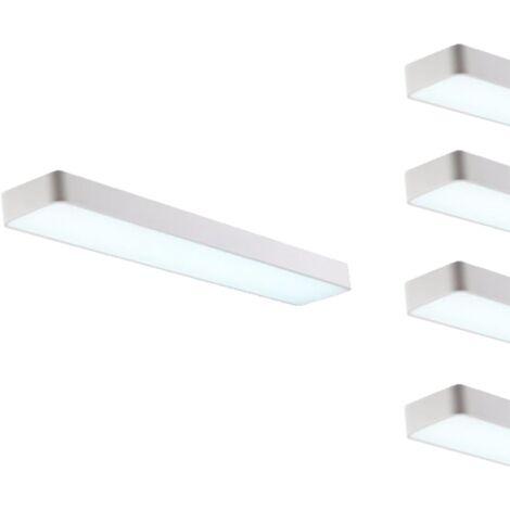 Réglette LED 120cm 45W Suspendue BLANC (Pack de 5)