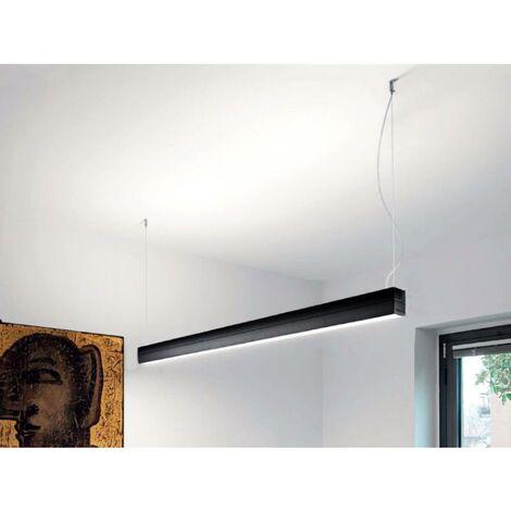 Réglette LED 120cmx7cm 36W Suspendue NOIR (Pack de 5)