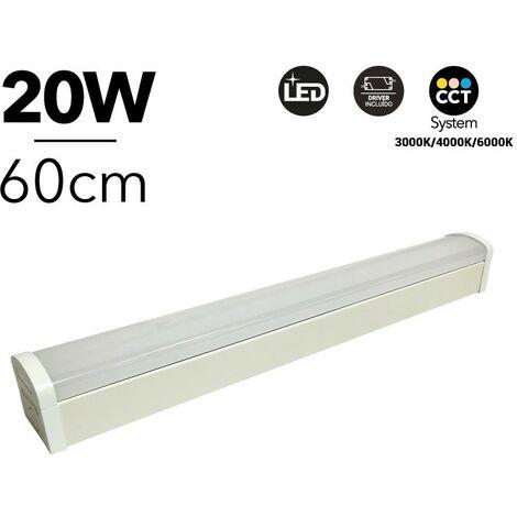 Réglette LED 20W 60cm CCT 2000lm IP20