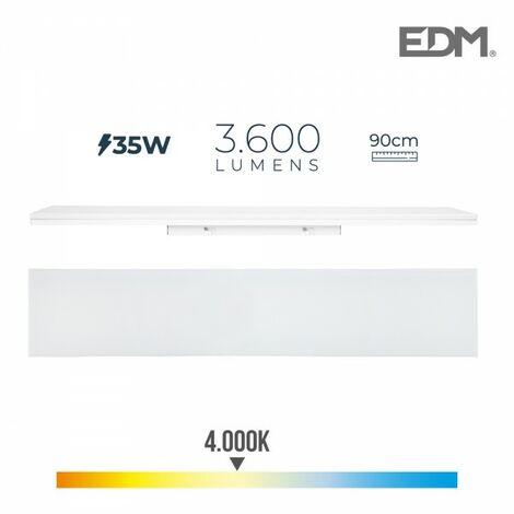 Reglette led 35w 90cm 4000k lumiere neutre 3600 lm edm