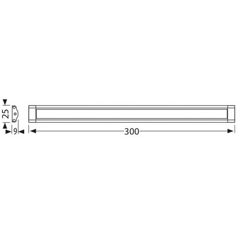 Reglette Led 50 Cm Dimmable Tactile Avec Alimentation
