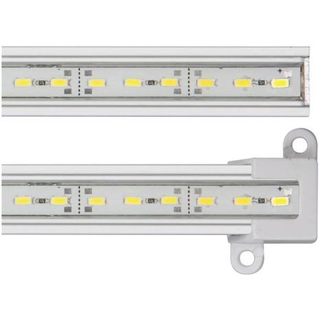 Réglette LED blanc chaud aluminium 81 LED SMD 0,50 m