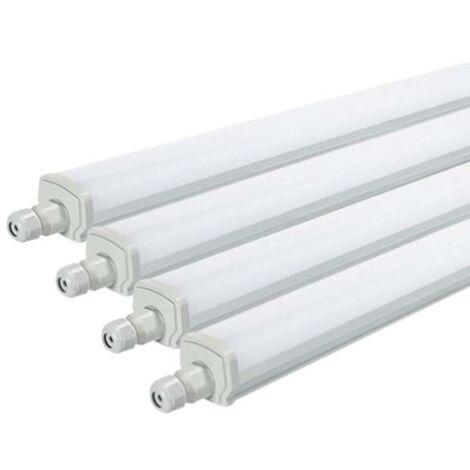 Réglette LED étanche 120cm 36W IP65 Interconnectable (Pack de 4)