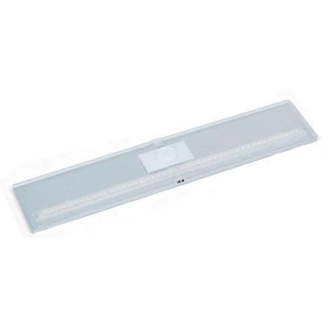 Réglette led extraplate slim - : - Puissance : 8 W - : - Fixation : En applique - Couleur de la lumière : Blanc neutre - Indice de protection : IP 20 - Décor : Argent - Type d'éclairage : LED - L