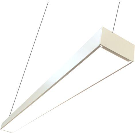 Réglette lumineuse LED 120cmx7cm 38W Suspendue BLANC - Blanc - Blanc Neutre 4000K - 5500K - SILAMP
