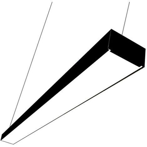 Réglette lumineuse LED 120cmx7cm 38W Suspendue NOIR - Noir - Blanc Neutre 4000K - 5500K - SILAMP