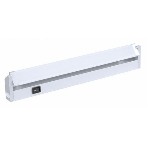 Réglette orientable 6W aluminium avec interrupteur 400 lumens