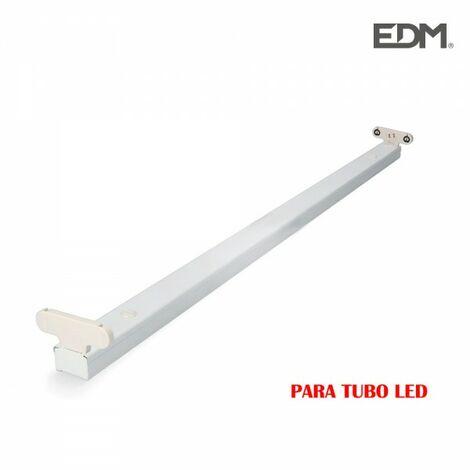 Réglette pour tube led 2x18w (eq 2x36w) 123cm - edm