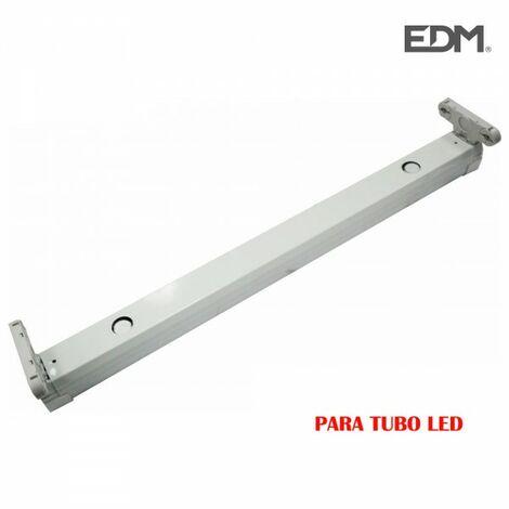 Réglette pour tube led 2x9w (eq 2x18w ) 61cm edm