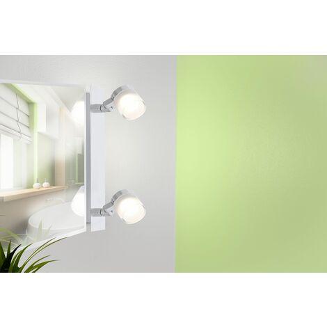Réglette salle de bain 2 spots orientables 360° chrome - GYRA - VOLTMAN - IP44 9W 3000K 700Lm - Chrome