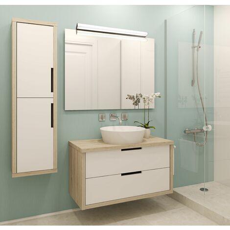 Réglette salle de bain 60cm noire KHEA - VOLTMAN - IP44 12W 4000K 950Lm - Noir