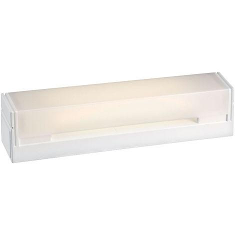 Reglette salle de bain B.85 01 avec inter, avec tube S19 LED 6W 2700K