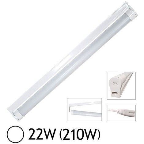 Réglette simple + Tube LED T8 22W 1200 mm