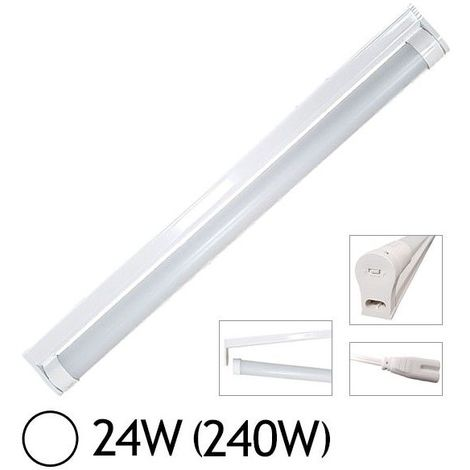 Réglette simple + Tube LED T8 24W 1500 mm