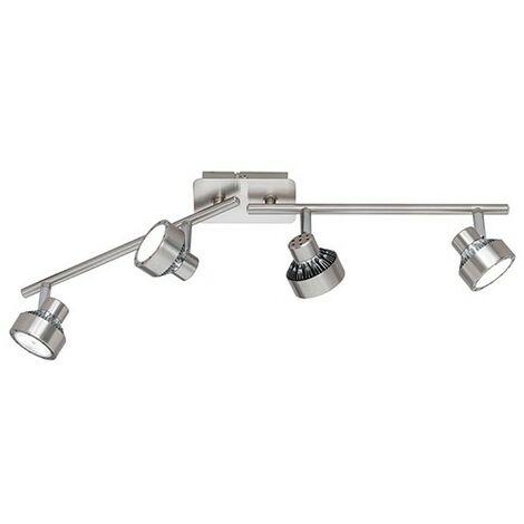 Réglette Spot LED Dimmable Impulse 4 lampes 3 niveaux lumineux - Argent