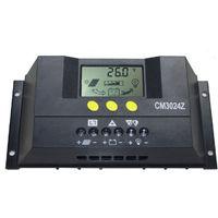 Regolatore carica solare usb fotovoltaico 30a lcd 12v 24v pannello cm3024z