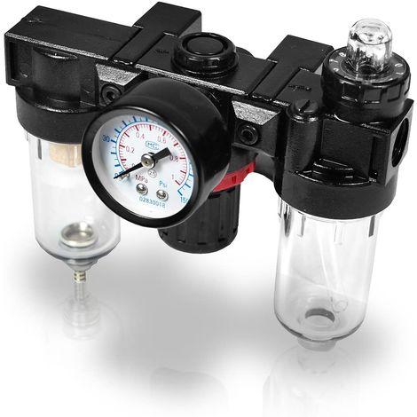 """Regolatore di pressione compressore con separatore d'acqua Connettore: 1/4"""""""