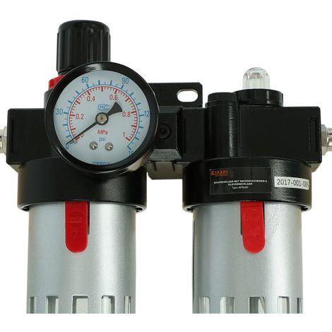 Regolatore di pressione compressore con separatore d'acqua e nebulizzatore d'olio