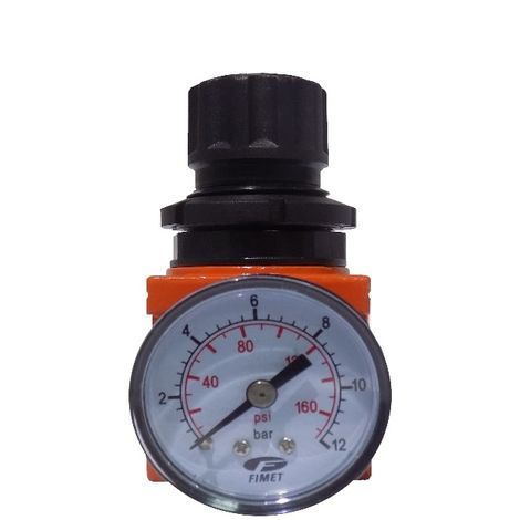 "Regolatore Riduttore di Pressione Attacco 1/4"" Compressore Aria Compressa 18 Bar"