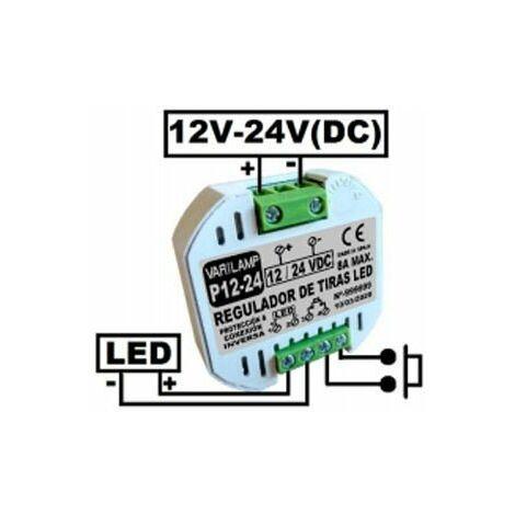 Regulador a Pulsadores Tiras LED Varilamp P12-24
