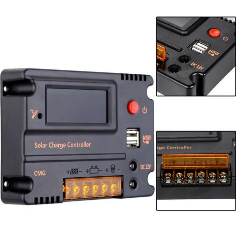Regulador de bateria del panel del controlador de carga solar, 20A 12V 24V