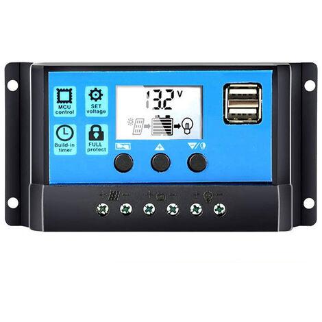 Regulador de carga de bateria del controlador de panel solar universal, 12V / 24V,20A
