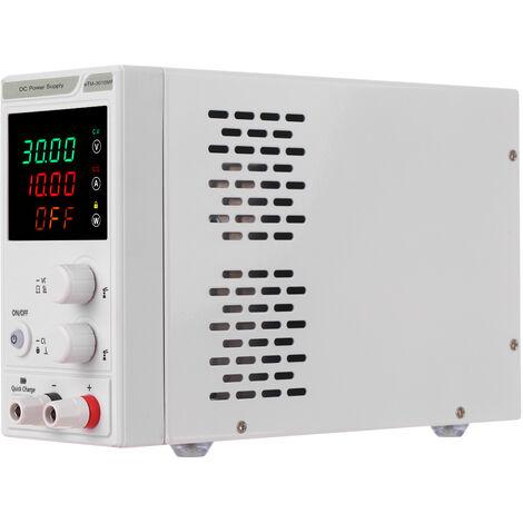 Regulador de energia de la fuente de alimentacion de 220V 0-30V 0-10A DC, mini fuente de alimentacion regulada