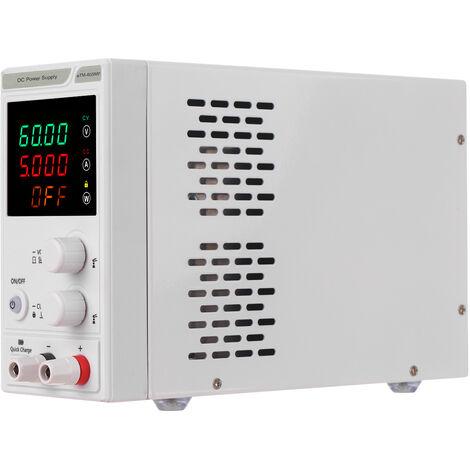 Regulador de energia de la fuente de alimentacion de 220V 0-60V 0-5A DC, mini fuente de alimentacion regulada