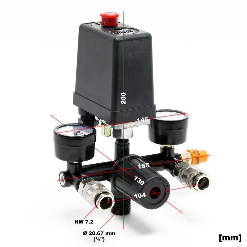 Valvula reguladora de presion para compresor de aire