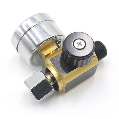 Regulador de presion de aire de la maquina rociadora de metal universal calibre 0-0.10Bar G1 / 4 regulador regulador de presion ajustable regulador de presion