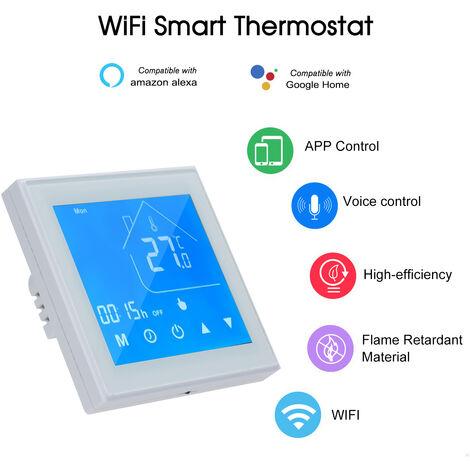 Regulador de temperatura del termostato inteligente WiFi, para caldera de agua / gas