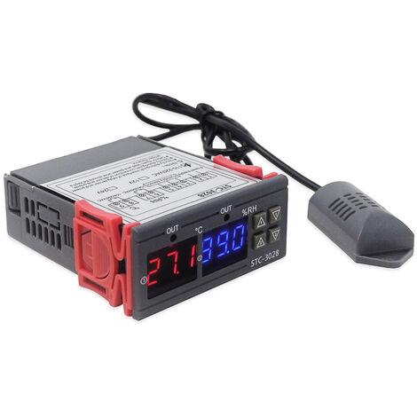 Regulador del controlador de temperatura y humedad de la pantalla digital, higrometro del termostato