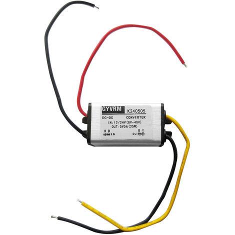 Regulador del convertidor DC / DC, 12V / 24V Reducir a 5V, 5A 25W