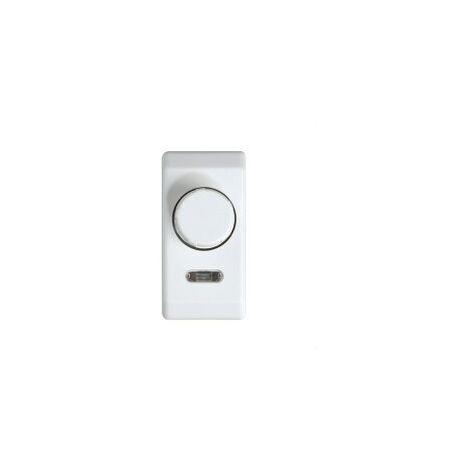 Regulador electrónico tensión universal estrecho Serie 27 blanco nieve