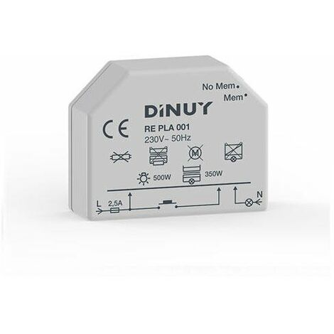 Regulador intensidad Dinuy lámparas incandescentes (500W) RE PLA 001