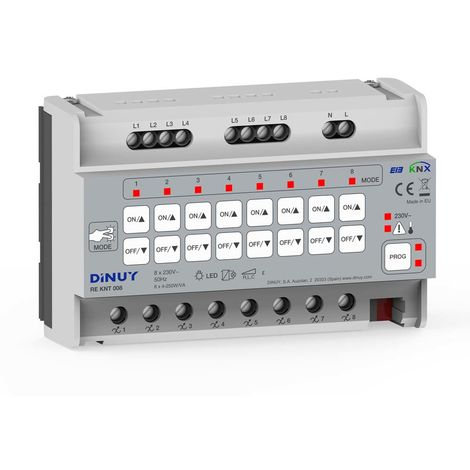 REGULADOR KNX 8 CANALES/ 8 CHANNEL KNX DIM DINUY RE KNT 008
