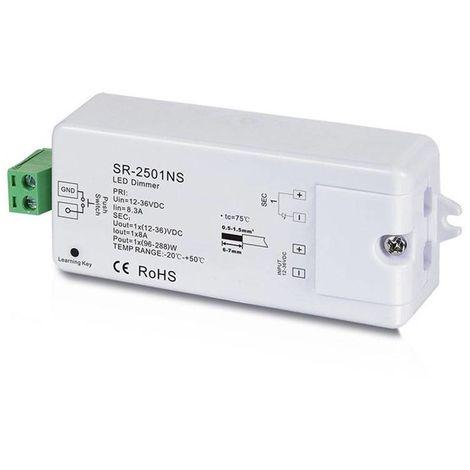 Regulador Monocolor PWM 12-36V-DC, 1 canal 8A, Control RF