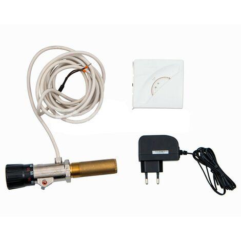 Regulador Tiro Electrico y Termostato Caldera BIOMASA Universal RT3E TP546